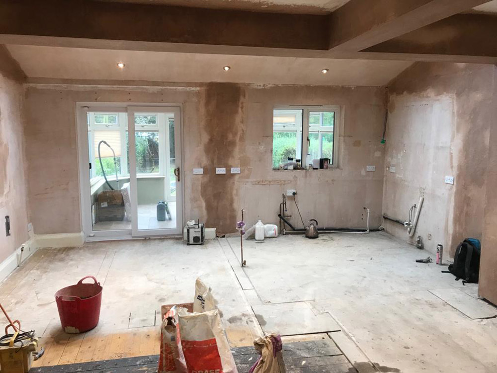 Removal of internal walls